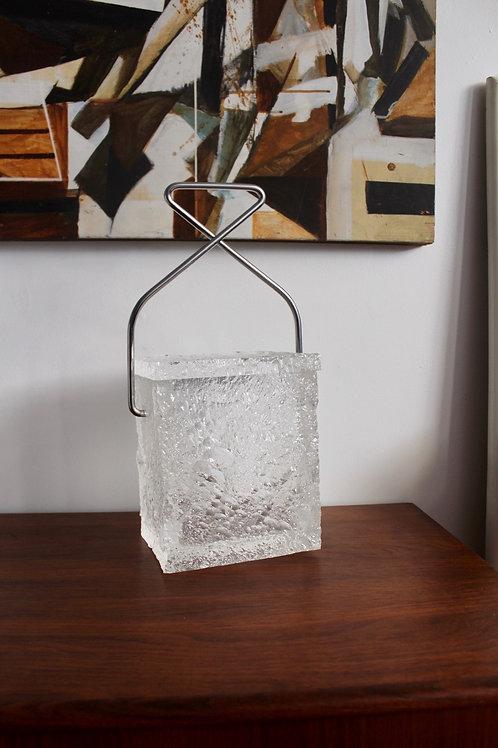 Crinkle Lucite Ice Bucket