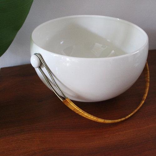 Large Vintage White Ceramic Bowl