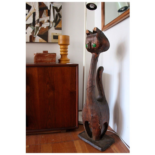Large Wooden Witco Style Cat