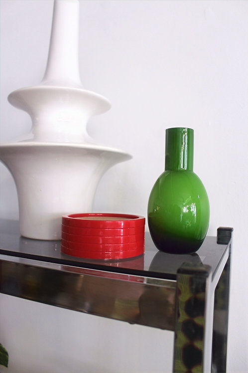 Small Ombre Green Glass Vase