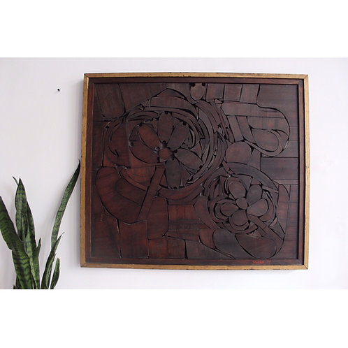 Wood Wall Sculpture by William Sildar