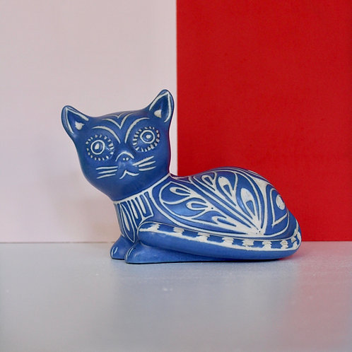 Mid century Blue Pablo Zabel Cat