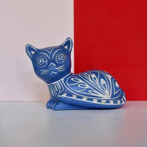 Mid century Blue Pablo Zabel Cat