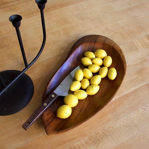 Vintage Free Form Wood Platter