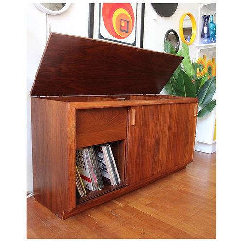 Walnut Barzilay Stereo/Record Cabinet