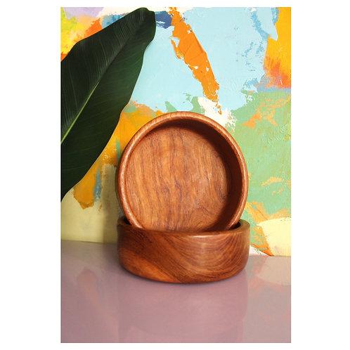 Small teak bowl set