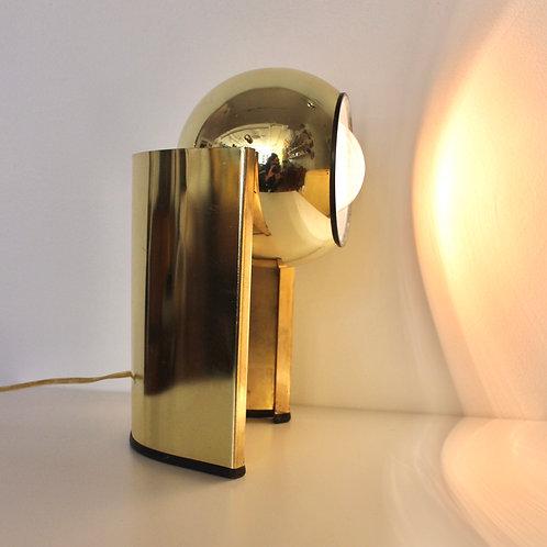 ON HOLD 70s Gold Swivel Eyeball Lamp