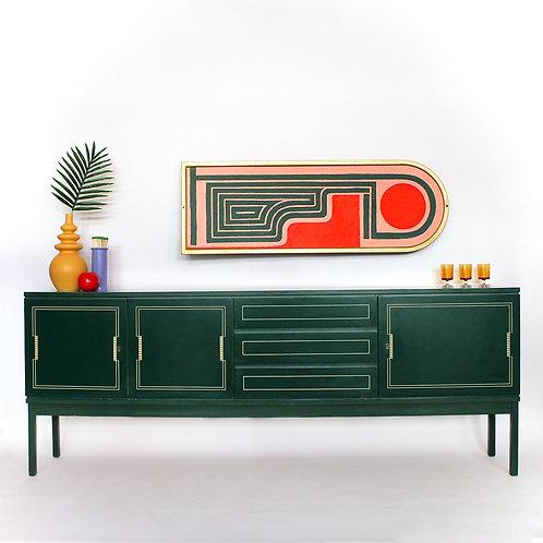 60's Green German Credenza