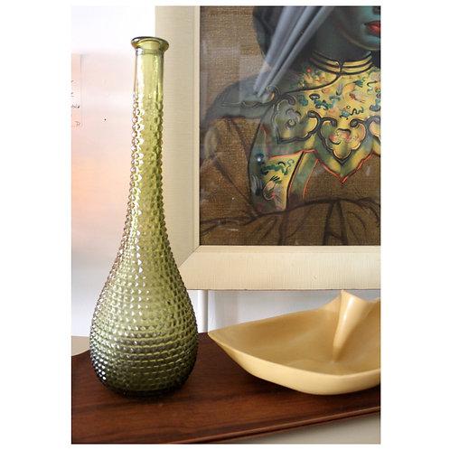 Italian Green Glass Decanter / Vase