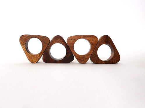 Triangle Napkin Rings-Wood