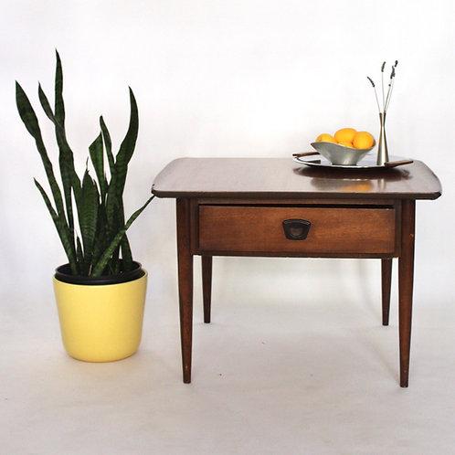 Walnut End Table by Bassett Furniture