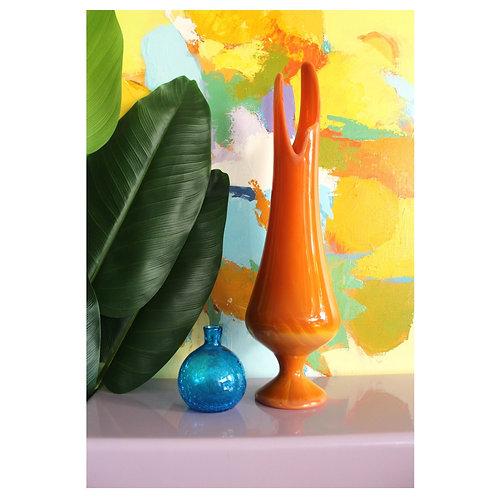 Large Thrown Glass Vase