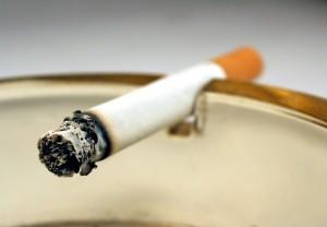 Cigarette and smoke close up