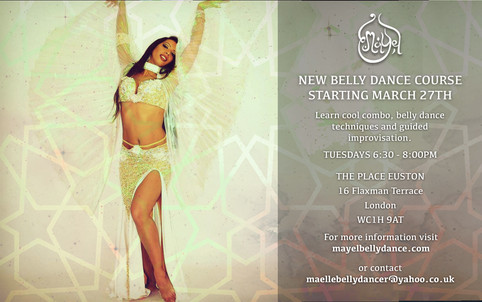 COOL COMBOS, TECHNIQUE AND IMPROVISATION: NEW BELLY DANCE COURSE STARTING MARCH 27TH!!!