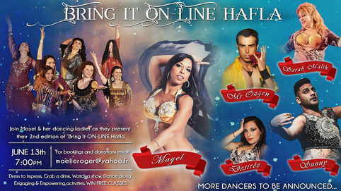 Bored of lockdown? Join the Bring it ON-LINE Hafla Saturday 13th June!