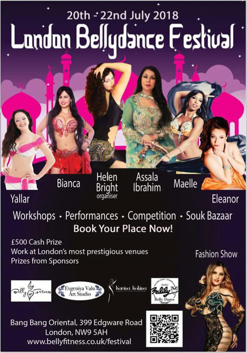 Workshop at the London Belly Dance Festival: OWN THE STAGE! July 22nd.