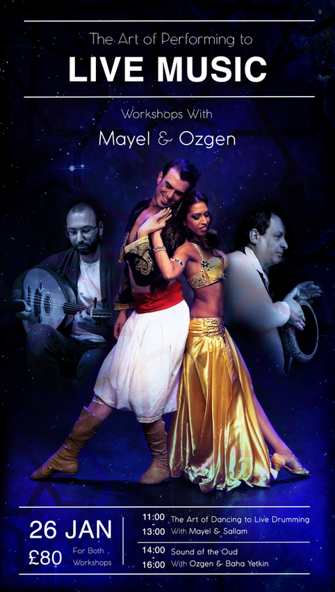 Announcing: Workshops Jan 26th with Belly Dance Stars Mayel & Ozgen!
