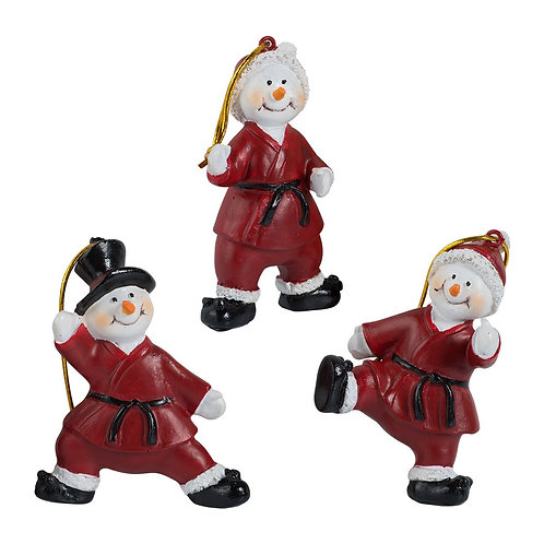 Snowman Ornaments - Set of 3