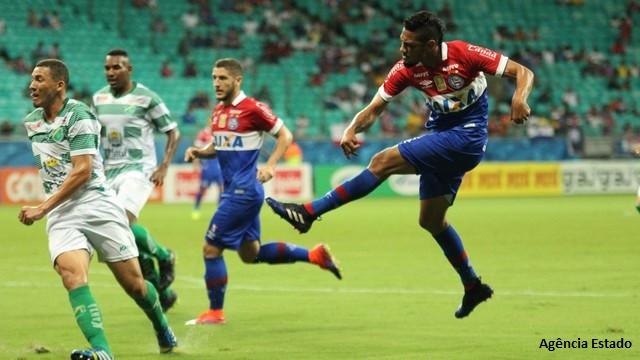 Hernane marcou um dos gols do Bahia na Fonte Nova