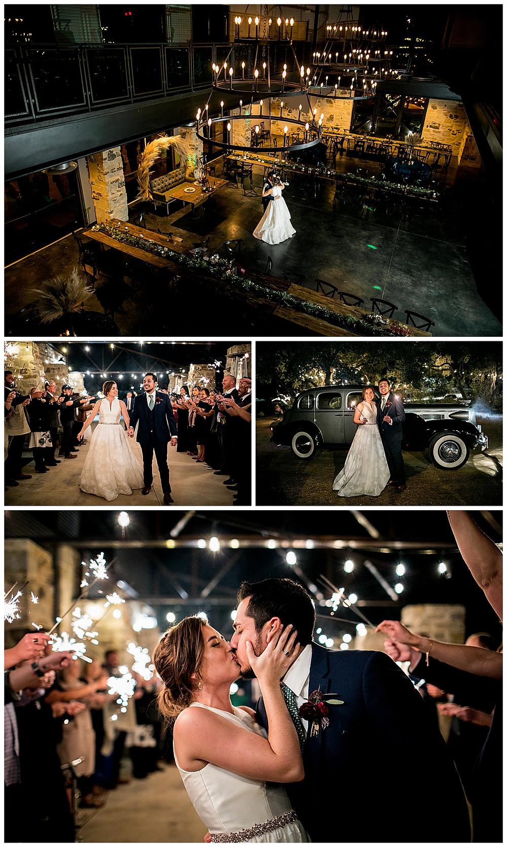bride and groom final dance and sparkler send off