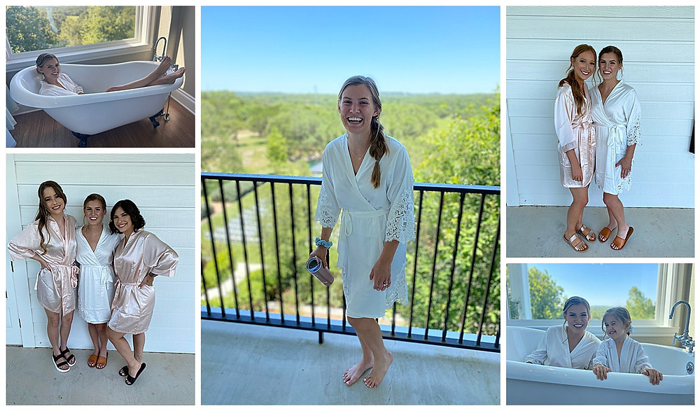Bride and Bridesmaids. Wedding Day. Kendall Point. Boerne Wedding. Bridal Suite