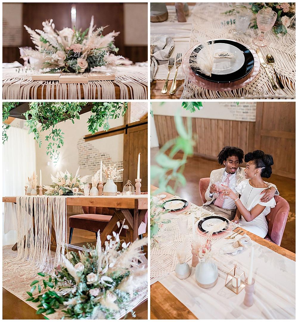 wedding details. floral centerpiece. table numbers. chandelier of gruene. modern wedding. boho wedding. luxury wedding planner