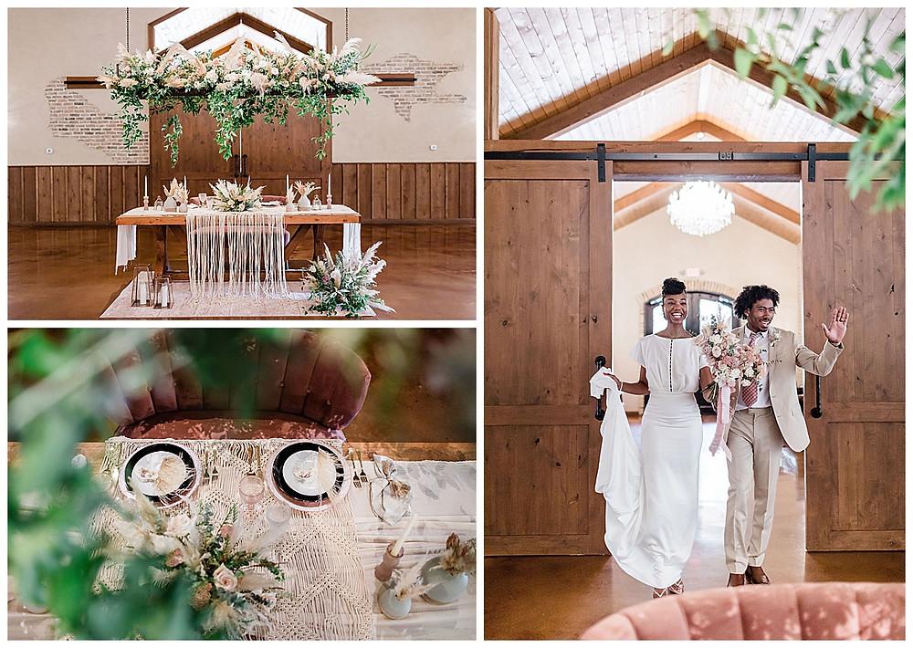 wedding reception. table decor. floral installation. grand entrance. bride and groom. wedding details