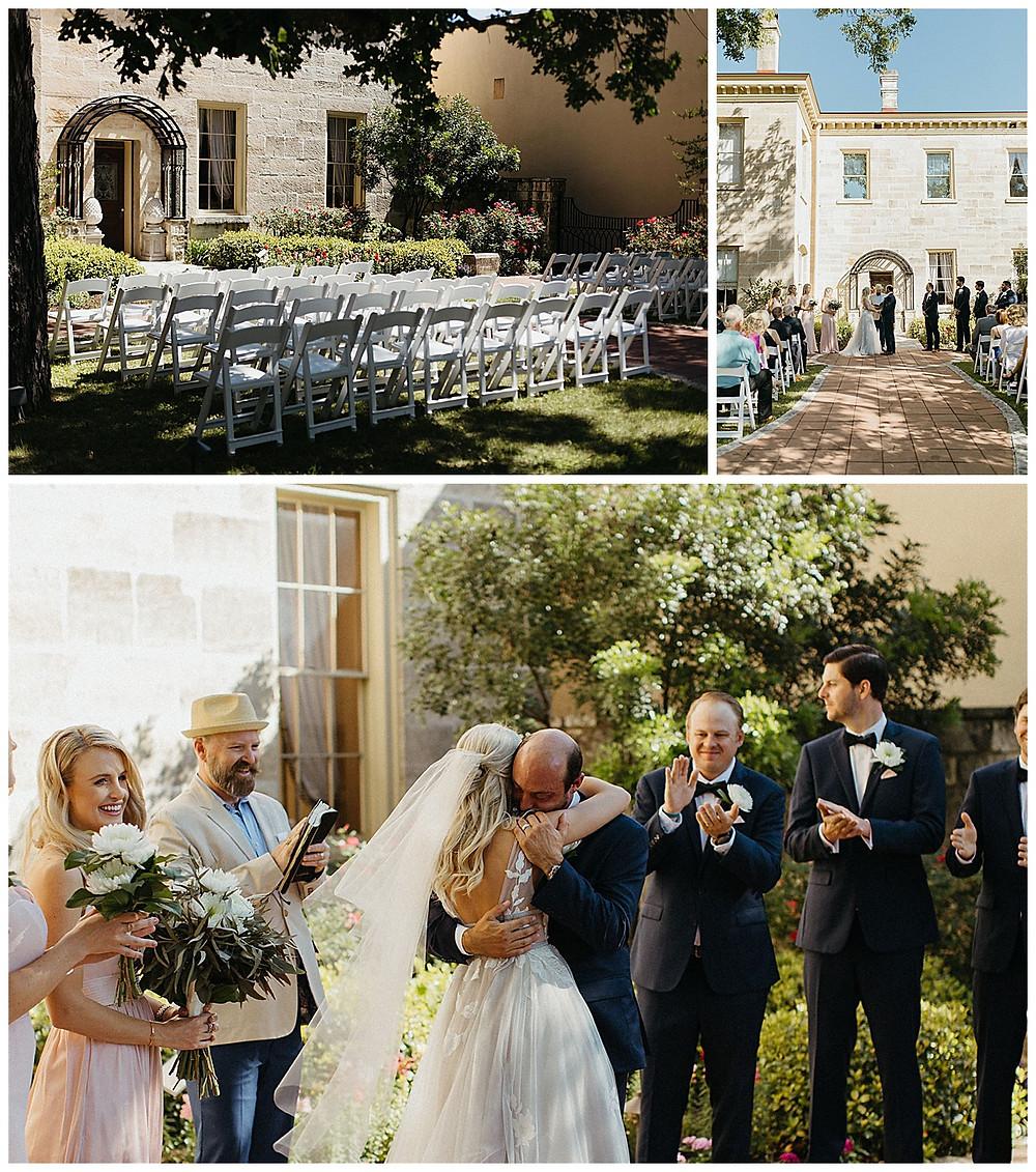 Hill Country Wedding. Kerrville Wedding. San Antonio Wedding Planner. Ceremony. Schreiner Mansion.