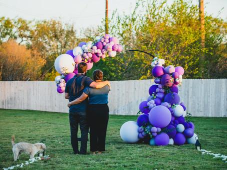 A Beautiful Backyard Proposal | Will + Aimee | San Antonio, TX