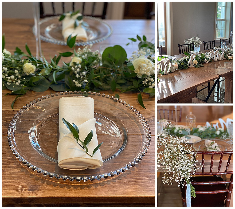 Wedding Reception. Table Decor. Floral Centerpieces. Boerne Wedding. Kendall Point Wedding.