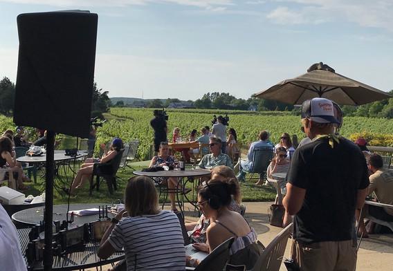 filming Summer House for Bravo Duckwalk