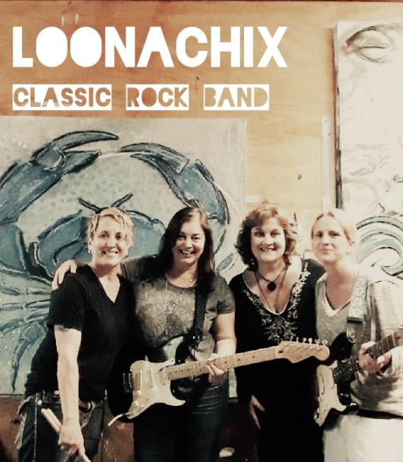 Tracy Macrone Drums, Jessie Haynes Guitar, April Nill Vox, Trina Michne Guitar