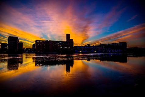 Sunrise over the Fox River