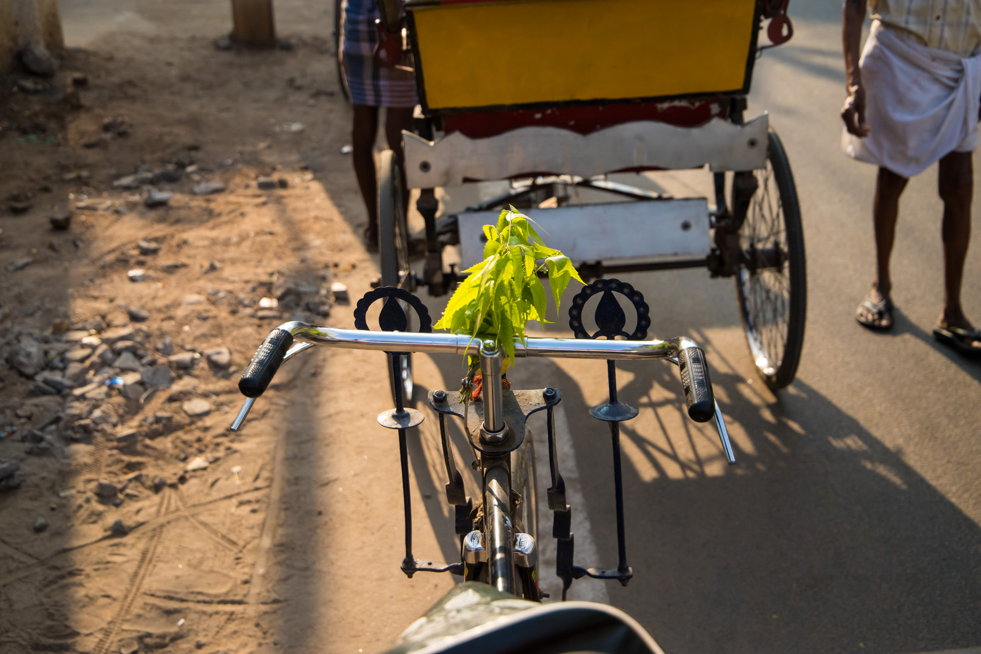 Beginning of the Rickshaw Ride