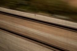Long exposure of the train tracks
