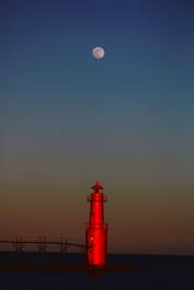Lake Michigan Moonrise