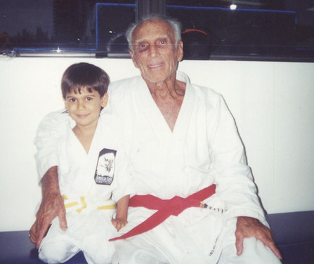 Grand Master Helio Gracie with Ulysses Gonzalez