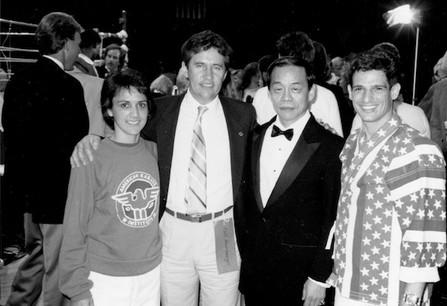 Master Bill Heimberger, Grand Master Jhoon Rhee, Angel & Regina Gonzalez