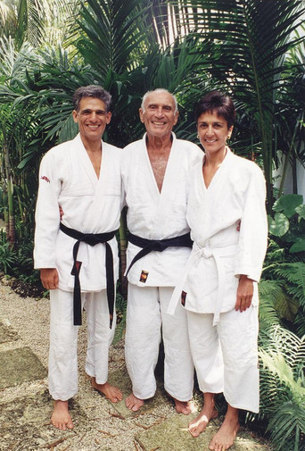 Grand Master Helio Gracie with Masters Angel & Regina Gonzalez