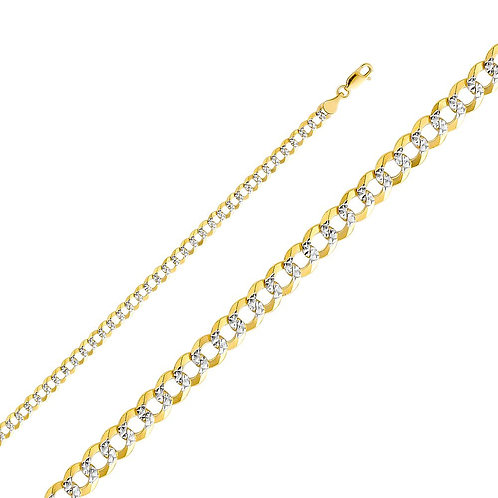 14k Two Tone Gold 4.7-mm Cuban Chain Necklace