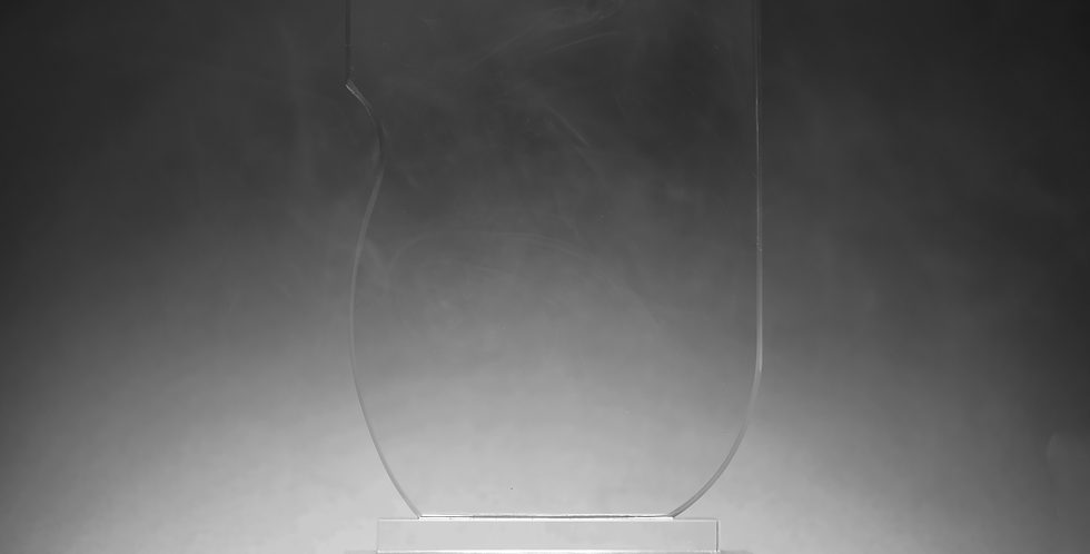 Wave Large 19cm Glass Award
