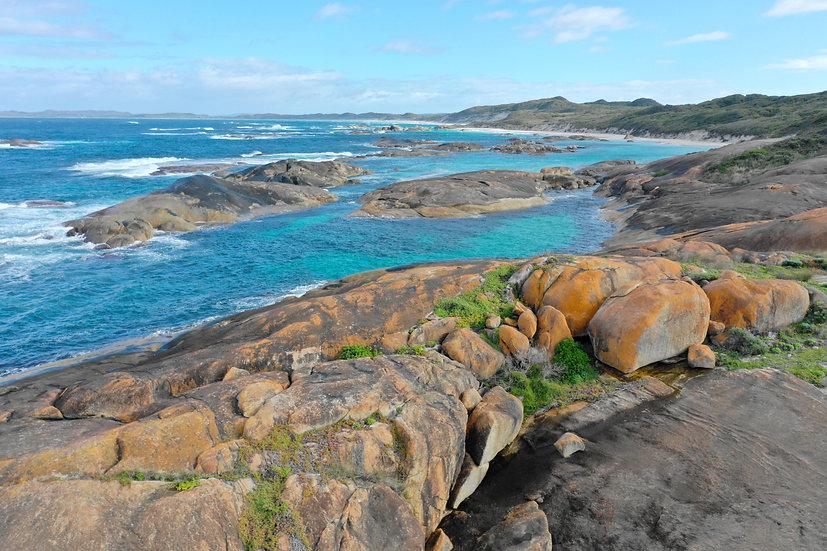 Rocks at Green Pools, Perth WA 75 x 50cm