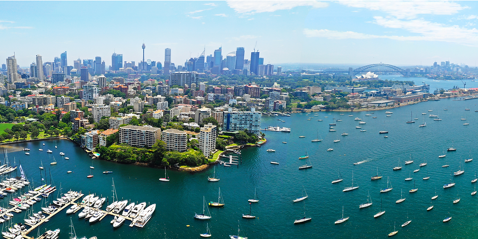 Rushcutters Bay and Sydney Harbour