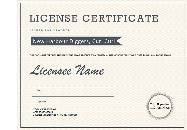 New Harbour Diggers, Curl Curl Aerial Photo Commerical Licence