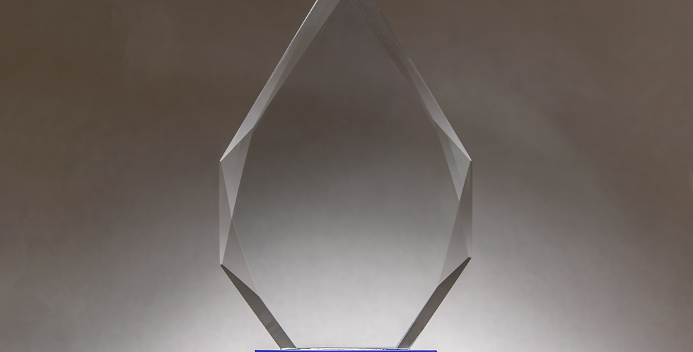 Teardrop Large 25cm Glass Award