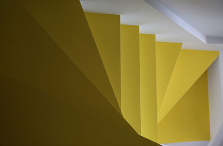 Aerial view of yellow stairs