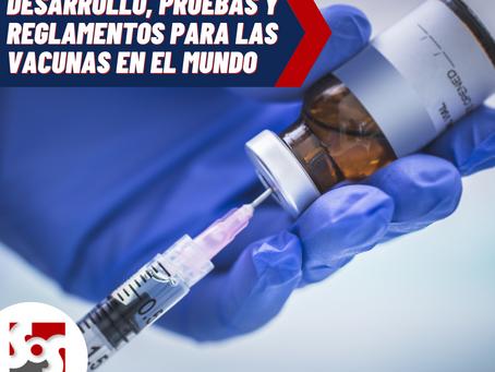 Desarrollo, pruebas y reglamentos para las vacunas en el Mundo