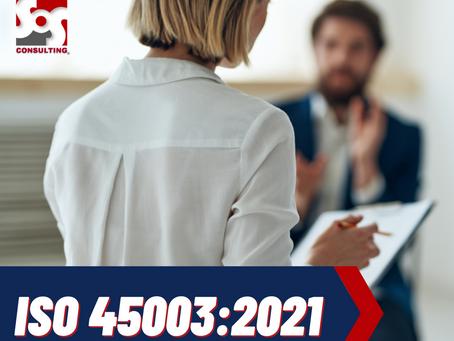 NUEVA NORMA ISO 45003:2021