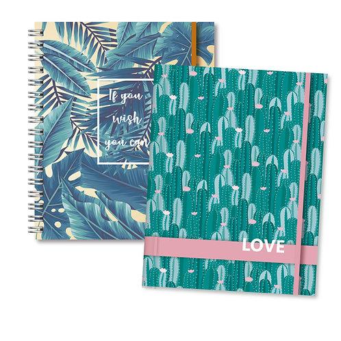 Libretas/Cuadernos Fantasía Mujer N7 Bullet Journal y Rayados