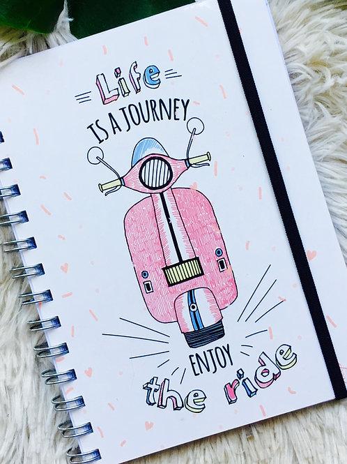 Cuaderno nap Linea VIAJES con elástico
